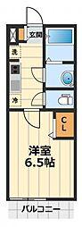 神奈川県大和市南林間4丁目の賃貸マンションの間取り