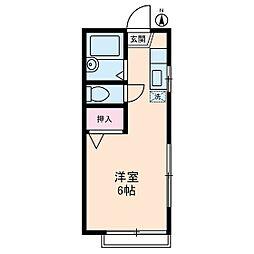 アパート松毬[0101号室]の間取り