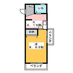 DUKE土岐[3階]の間取り