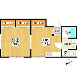 JR常磐線 土浦駅 バス20分 真鍋台下車 徒歩5分の賃貸アパート 1階1DKの間取り