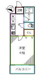 東京メトロ丸ノ内線 西新宿駅 徒歩3分の賃貸マンション 4階1Kの間取り
