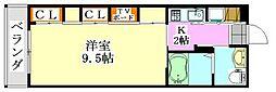 千葉県船橋市藤原1の賃貸アパートの間取り