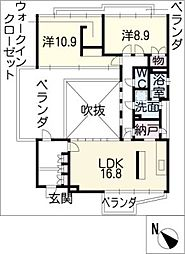 レジデンス ソマト[4階]の間取り