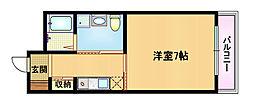 Osaka Metro谷町線 都島駅 徒歩3分の賃貸マンション 6階1Kの間取り