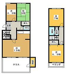 八事表山住宅5号棟[1階]の間取り