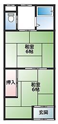 寺方本通 アパート[1階]の間取り