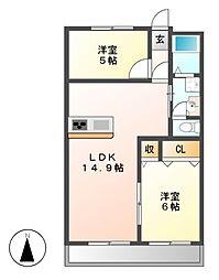 メゾン木村[1階]の間取り