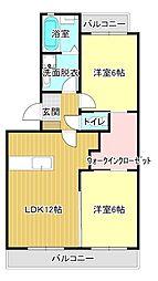 ラ・グランドメゾンII[1階]の間取り