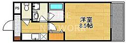 クオーレ北野[305号室号室]の間取り