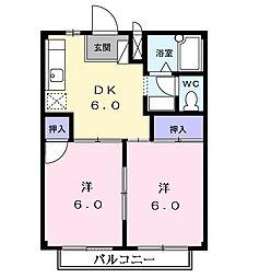 サザンウインドパートII[2階]の間取り