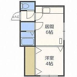 北海道札幌市中央区南四条西24丁目の賃貸マンションの間取り
