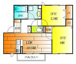 (仮称)D-room沢田1丁目[1階]の間取り