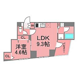 フェニックス新横濱クアトロ[4階]の間取り