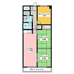 ワコービル[4階]の間取り