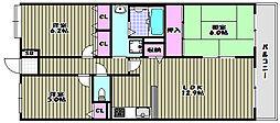 大阪府堺市堺区山本町1丁の賃貸マンションの間取り