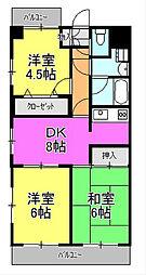 橋本大河原ビル[207号室]の間取り