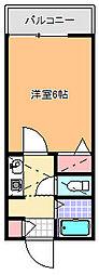 ベルシオン桐生第2[203号室]の間取り