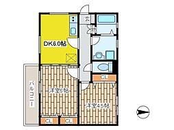 ビアメゾン狛江[1階]の間取り