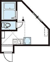 横浜市営地下鉄ブルーライン 踊場駅 徒歩7分の賃貸アパート 2階ワンルームの間取り