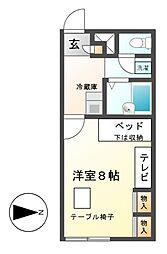 レオパレスKITAICHI[1階]の間取り