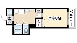 愛知県名古屋市瑞穂区北原町1丁目の賃貸マンションの間取り