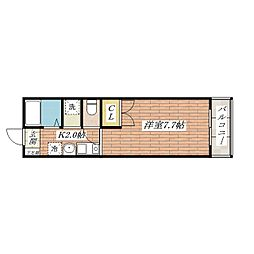 ウエストコーポ[2階]の間取り