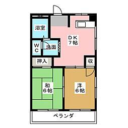 ピュアハイツ6[2階]の間取り