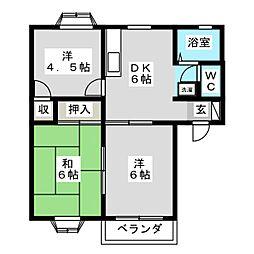 ドリームパレスK−1[2階]の間取り