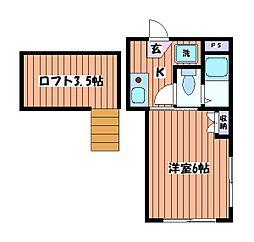 ガーデンコート豊田[2階]の間取り