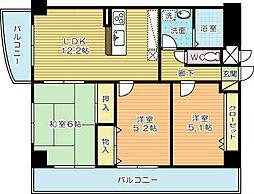 第壱上野マンション (特定優良賃貸住宅)[703号室]の間取り