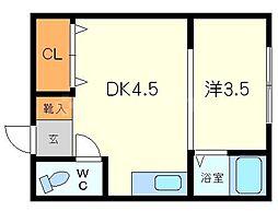 Matsuhiko-sou[4階]の間取り
