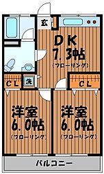 ティファニーマンション[1階]の間取り