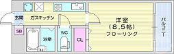 仙台市地下鉄東西線 青葉山駅 徒歩5分の賃貸マンション 6階1Kの間取り