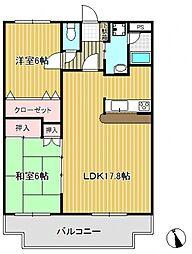 ルミネII[2階]の間取り