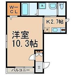 東京都江東区海辺の賃貸アパートの間取り