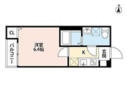 東武野田線 岩槻駅 徒歩8分の賃貸アパート 1階1Kの間取り