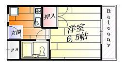 ナンノ第12号館[3階]の間取り