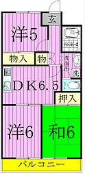 グレース松戸III[2階]の間取り