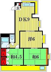 エクセレンツ青砥[4階]の間取り