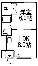 小松マンション[205号室]の間取り