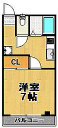 カーサマローネ[3階]の間取り