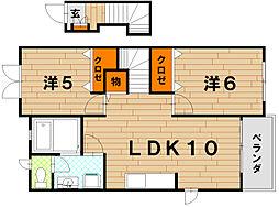 カルムフローレ[2階]の間取り