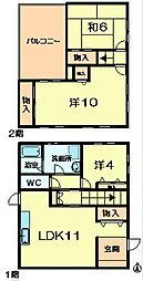 [一戸建] 奈良県奈良市学園大和町1丁目 の賃貸【奈良県 / 奈良市】の間取り
