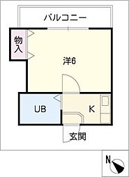 鳴海パーク[1階]の間取り