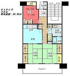 大阪府豊中市服部本町5丁目の賃貸マンションの間取り