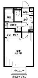 千葉県千葉市中央区都町1丁目の賃貸アパートの間取り