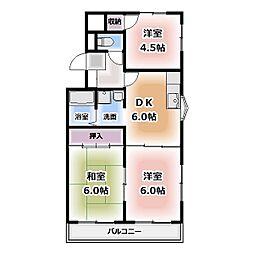 青山マンション[301号室]の間取り