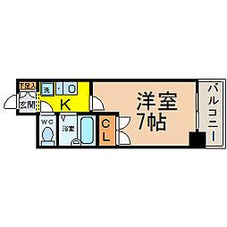 愛知県名古屋市中村区中島町3丁目の賃貸マンションの間取り