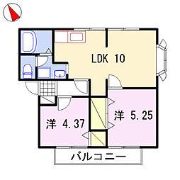 第2グリーンハイツ[2階]の間取り