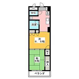 エンブレム元浜[5階]の間取り